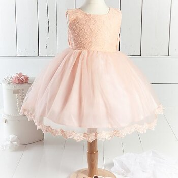 Pink (peach) tulledress with lacetop