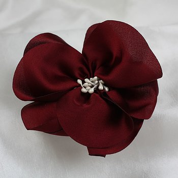 Hairclip wine red flower Baby and children