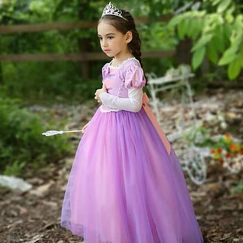 Purple fairytail dress with tulle skirt