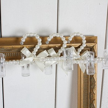 Pearl hanger with bow for pants/skirts 3 pieces