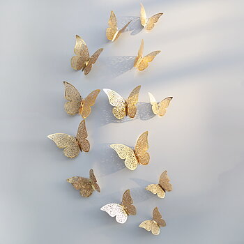 Butterflies decor Gold