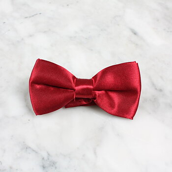 Bow tie wine red