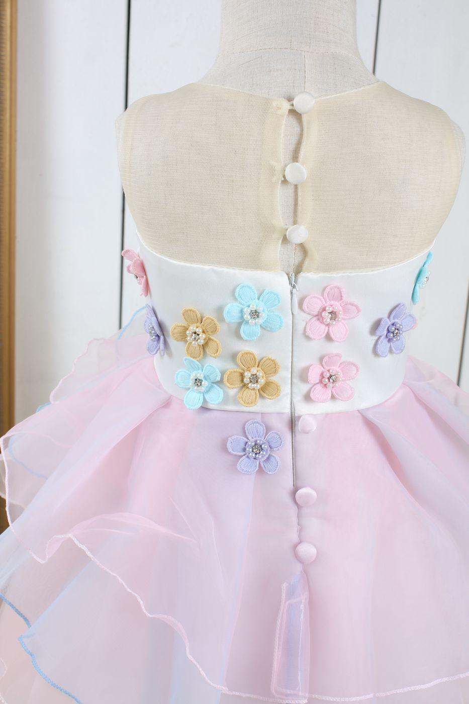 Rosa sagoklänning Enhöning