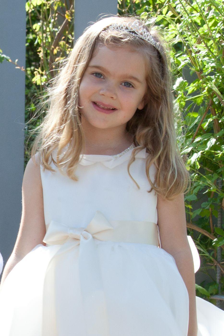 Beige Ceremony dress Children boutique Baptism Girl Dress Special Design Organza White Str Long Dress Ivory Dress Organza skirt