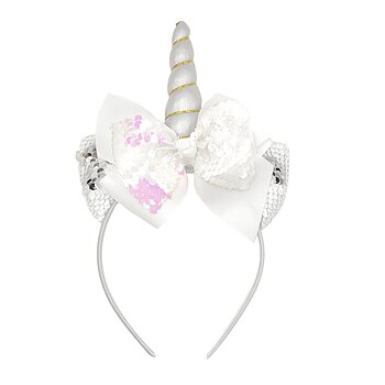 Headband Unicorn silver horn