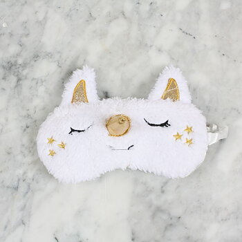 Sleeping mask Unicorn Gold and white