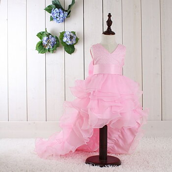 Light pink princess dress with train