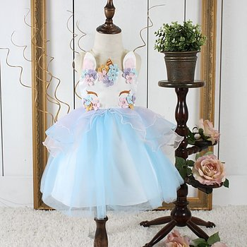 Blue fairytail dress Unicorn