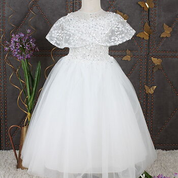 Ivory princess dress in tulle with stones