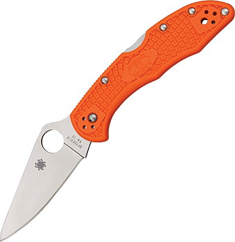 Spyderco - Delica 4 FRN Flat Ground - Orange