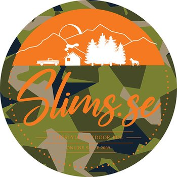 Sticker - Slims.se Logo Camo Orange
