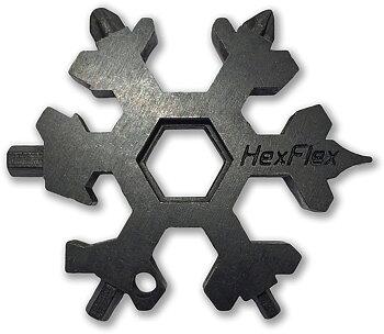HexFlex - Adventure Tool Black Metric EDC-verktyg