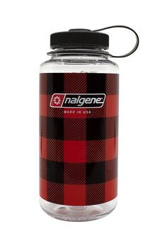 Nalgene - Vattenflaska Red Plaid Wide Mouth 1 Liter