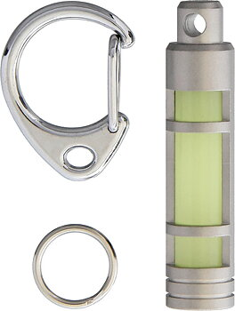 TEC Accessories - Embrite Glow Fob Stainless - Glow In The Dark Rostfritt Stål