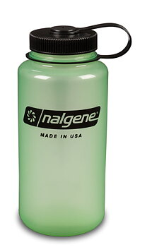 Nalgene - Vattenflaska Glow In The Dark Green Wide Mouth 1 Liter