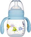 2B Baby Babblarna Nappflaska 180 ml med handtag - Blå