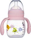 2B Baby Babblarna Nappflaska 180 ml med handtag - Rosa