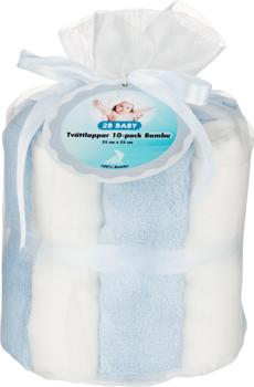 2B Baby Tvättlappar Bambu OEKO-TEX 10-pack Blå