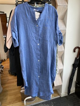 Linne Kimono/Klänning Blå Cosy House
