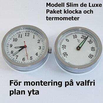 1-0791 Slim de Luxe paket, klocka och termometer
