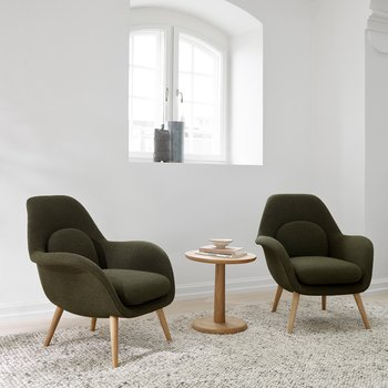 (SÅLDA) 2ST SWOON LOUNGE PETIT 1774  - Fredericia furniture
