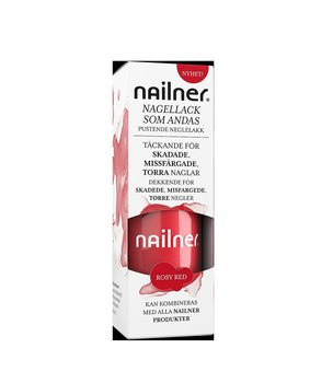 Nailner - Nagellack som andas, Rosy red, 8 ml