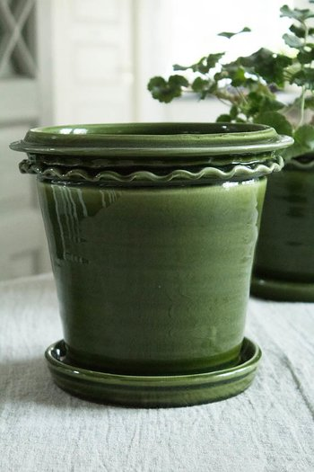 Plant Pot Dark Green 19cm