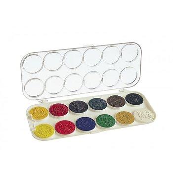 Akvarellfärg 30mm 12 färger