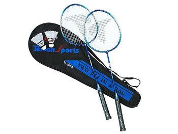 Badmintonracket - 2 racket och bollar längd 66 cm