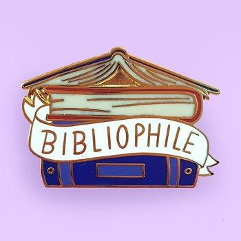 Bibliophile : Enamel Pin