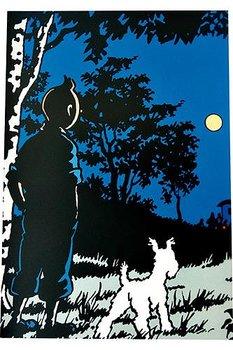 Tintin :  Månen tur och retur - Skrivhäfte linjerat A4