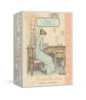 Jane Austen : Notecards Pride & Prejudice - kortask med 16 kort med kuvert