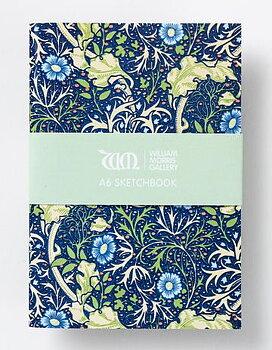 William Morris : Seaweed Sketchbook  - A6 Skissbok med 150 gramspapper