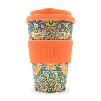William Morris : Strawberry Thief Orange - Ecoffee reusable cup 40 cl