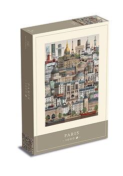 Martin Schwartz : Paris - Pussel 1000 bitar med affisch