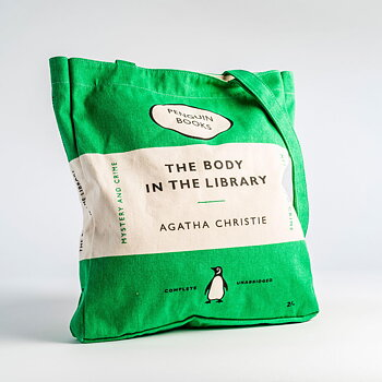 Agatha Christie :  The Body in the Library - Penguin Tote bag