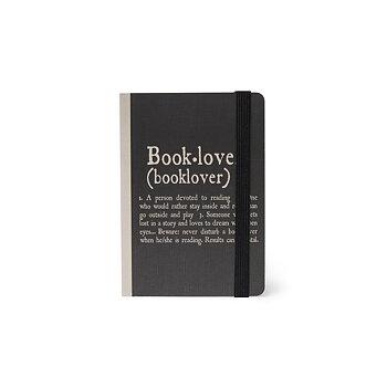 Book Lover : Skrivbok linjerad med resårband A7+