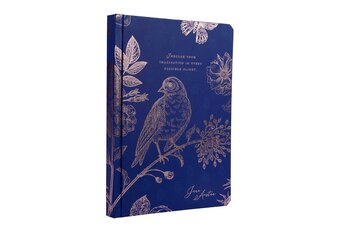 Jane Austen : Hard Cover Journal - Indulge your imagination - Skrivbok med läsband och guldfolierat omslag