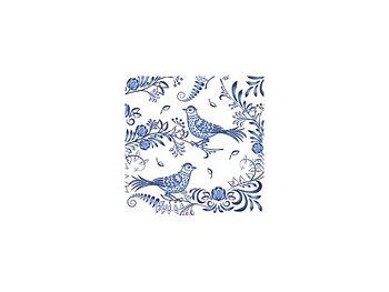 Porcelain Bird : Kaffe/frukostservett 25x25 cm 20-pack