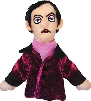 Edgar Allan Poe Magnetic Personality - Fingerdocka och kylskåpsmagnet
