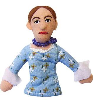 Virginia Woolf Magnetic Personality - Fingerdocka och kylskåpsmagnet