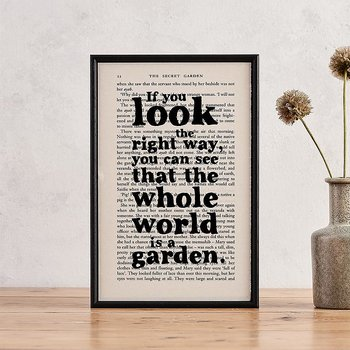 Book Page Print : Secret Garden If you look the right way