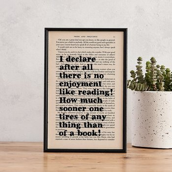 Book Page Print : Pride & Prejudice I declare after all