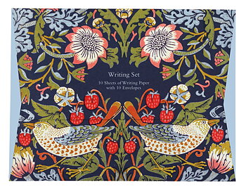William Morris : Strawberry Thief -  Brevpapper och kuvert  i matchande mapp