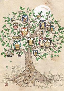 Bug Art : Owl Roost - kort med kuvert