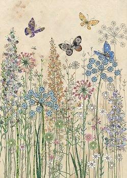 Bug Art : Butterfly Grasses - kort med kuvert