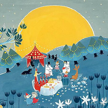 Mumin : Fullmånefest- Kort med kuvert