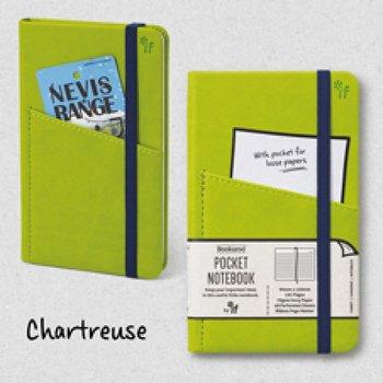 Bookaro : Pocket notebook med ficka och resårband - Chartreuse A6