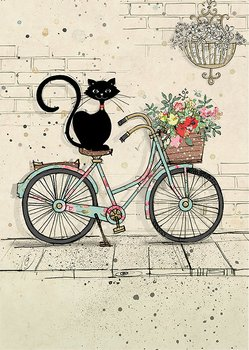 Bug Art : Bike Cat - kort med kuvert