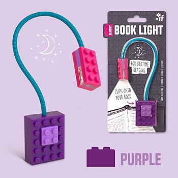 Blocky Book Light : Läslampa - Kul och läsinspirerande! Lila
